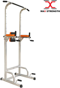 Max Strength Power Tower - Pull Up Rack & Dip Station for Home & Commercial use