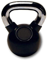 Max Strength 4kg-Rubber Coated KettleBell Weights for Women Men - Solid Cast Iron Weights with A Special Protective Bottom, Kettlebell Weights Set