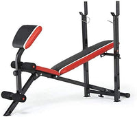 Bodyfit 2in1 Folding Barbell & AB with Curl Exercise Multi Function Bench Multi Option Weight Lifting 2 incline, 1flat & 1decline workout position
