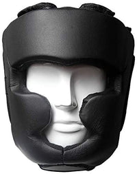 Max Strength- Head Guard Boxing Headguard MMA Headguard Martial arts Headgear for Protection & Training, Black, Medium