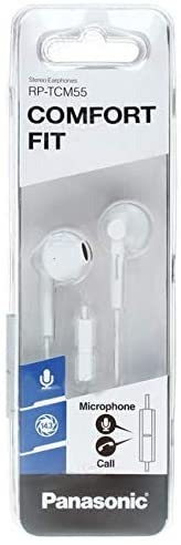 Panasonic In Ear Headphones, White - Rp-Tcm55gc-W