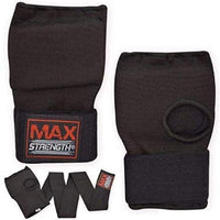 Max Strength-Boxing Hand Wraps Inner Gloves (Black, L/XL)