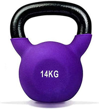 Max Strength-14kg Coated prfessional Kettle Bell Weights for UNISEX - Solid Cast Iron Weights with Special Protective Bottom, (Random Color)