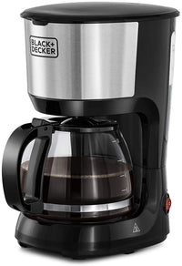 Black+Decker 10 Cups Drip Coffee Maker With Glass Carafe 1.25L 750W DCM750S-B5 - Black/Silver