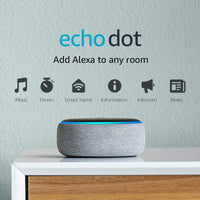 Amazon - Echo Dot (3rd Gen) - Heather Gray