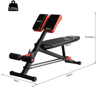 Max Strength-Multifunctional Hyper Dumbbell Bench Indoor Fitness Machine Weights Work Out Ab Sit Up Decline Flat Sit up Adjust - Roman Chair