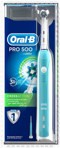 Oral-B PRO 500 Cross Action Electric Toothbrush (with UAE 3 pin plug)