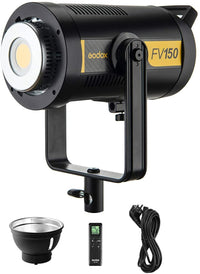 Godox FV150 1/8000s High Speed Sync Flash LED Light 150W Dimmable 5600K CRI 96+ Built-in Godox 2.4G Wireless Receiver 8 FX Effects Modes with Remote Control