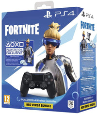 Sony Fortnite Neo Versa DualShock 4 Wireless Controller Bundle - Jet Black