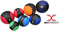 Max Strength Medicine Ball Rubber Med Bounce Ball Strength Training Home Gym Fitness Exercise Weight Lifting Fat Loss -Multi Color