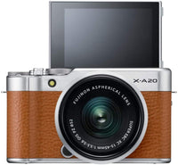Fujifilm X-A20 Mirrorless Digital Camera, Silver with Fujinon XC15-45mm Optical Image Stabilisation Power Zoom Lens Kit