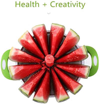 Stainless steel Water Melon Slicer, Fruit Melon Cantaloupe Slicer Watermelon Divider