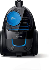 Philips PowerCyclone 5 PowerPro 1800W Compact Bagless Vacuum Cleaner EPA10 Filter, FC9350, Black/Blue, 1 Year Brand Warranty, UAE Version