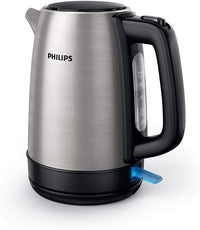 Philips Daily Collection Kettle Stainless Steel, Spring lid, Light indicator, Silver, 1.7 L, HD9350/92