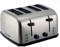 Black & Decker ET304-B5 4 Slice Parallel Slot SS Toaster with Dual Control