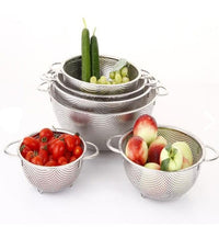 Dessini Stainless Steel Punching Basket With Handles 6 Pieces