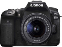 Canon 90D Digital SLR Camera with 18-55 IS STM Lens Black