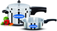 Sonashi 5Litrs Pressure Cooker Combo With 3.5Ltr Pan SPC-350C