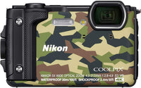 "Nikon W300 Waterproof Underwater Digital Camera With Tft Lcd 3"" Green"