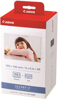 Canon Color Ink Paper Set, KP-108IN for Selphy CP910 - CP810 Photo Printer