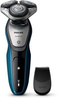 Philips S5420 AquaTouch Wet and Dry Electric Shaver Multi Precision Blade System, 45 min Cordless use/1h Charge, Smart Click Precision Trimmer