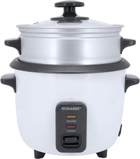 Sonashi 0.6 Ltr Rice Cooker With Steamer