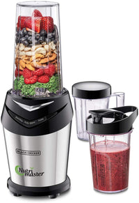 Black+Decker 600W NutriMaster Blender/Smoothie Maker , 3 Jars with Lids , Silver/Black - NE600-B5