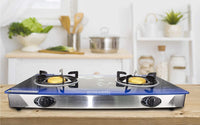Sonashi Double Gas Burner (Blue Floral)