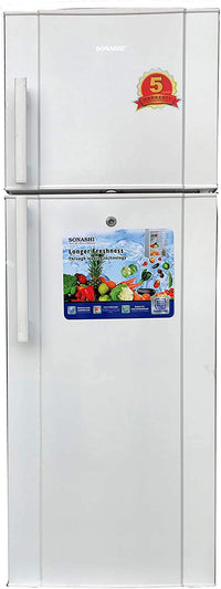 Sonashi 230 Litres Double Door Refrigerator (White) With Frost 36kg