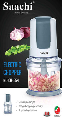 Saachi Electric Chopper NL-CH-554-GY with Ultra Sharp Removable Blades