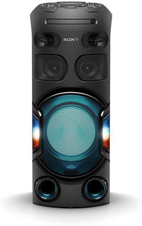 Sony MHC-V42D | High Power Party Speaker | One Box Music System with Multi Color Lighting Effects - Black