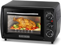 Black+Decker 19L Double Glass Toaster Oven With Rotisserie TRO19RDG-B5 - Black