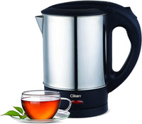 CLIKON - 1.0 Liter Electric Kettle, Stainless Steel Body, Cordless with - CK5133