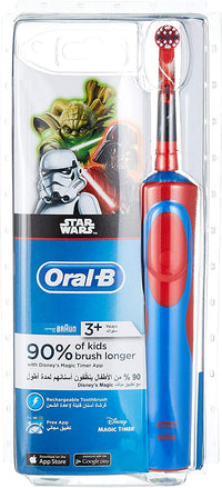 Oral-B Vitality Rechargeable Kids Electric Tooth Brush - Star Wars (Hx8392/45), Assorted Color