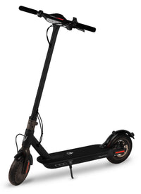 "Maserati E-Scooter 8.5"" - Folding Electric Scooter, Portable Compact Stylish Trendy, 250W Motor Power, Fast 25kph, Battery Operated, Lights, Splash Resistant, Pneumatic Tires, Electronic Brake - Black"