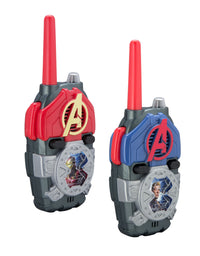 KIDdesigns Avengers Endgame FRS Walkie Talkies with Lights & Sounds Kid Friendly Easy to Use, Powerful 500ft range Toys for Kids, Adults, Family, 2-Way Radio Clear Sound, Battery Included