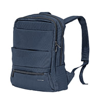 Promate - Laptop Backpack, Slim Lightweight Dual Pocket Water Resistance Backpack with Multiple Compartment and Anti-Theft Pocket for 15.6 Inch Laptops, Tablets, Documents, Apollo-BP Blue