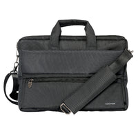 Promate - Messenger Bag Laptop, Multifunction Shoulder Messenger Bag with Multiple Storage Pocket, Detachable Sling and Water-Resistance Laptop Bag for 15.6 Inch Laptops, Tablet, Document, Apollo-MB Black