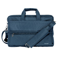 Promate - Messenger Bag Laptop, Multifunction Shoulder Messenger Bag with Multiple Storage Pocket, Detachable Sling and Water-Resistance Laptop Bag for 15.6 Inch Laptops, Tablet, Document, Apollo-MB Blue