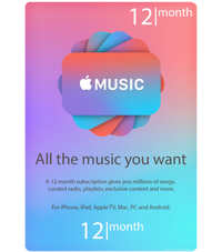 Apple Music US Monthly Subscription Digital Code