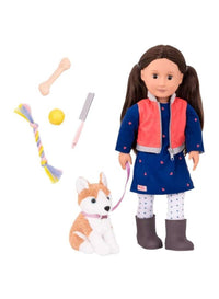 Doll W/ Pet Dog, Leslie