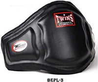 TWINS SPECIAL Belly Protector with Velcro closure. Leather BEPL3 BLACK