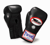 Twins Special Boxing Gloves Lace Up BGLL 1 Black