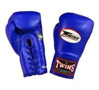 Twins Special Boxing Gloves Lace Up BGLL 1 Blue