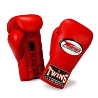 TWINS SPECIAL BOXING GLOVES LACE UP BGLL 1 RED
