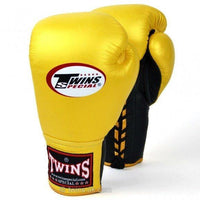 TWINS SPECIAL BOXING GLOVES LACE UP BGLL 1 YELLOW