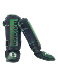 Booster Shinguards THAI STRIKER Black Green