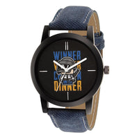 Blue Leather Strap With Multi-Colour Dial Watch for Men