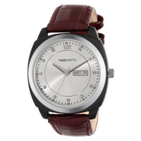 Brown Colour Leather Belt Watch With Multi-Colour Dial