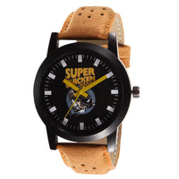 Brown Leather Strap With Multi-Colour Dial Watch for Men